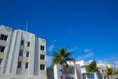 Miami Beach Ocean boulevard Art Deco Florida Royalty Free Stock Images