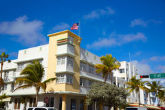 Miami Beach Ocean boulevard Art Deco Florida Stock Photography