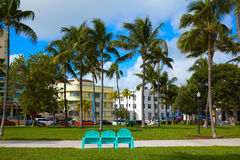 Miami Beach Ocean boulevard Art Deco Florida Royalty Free Stock Photo