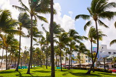 Miami Beach Ocean boulevard Art Deco Florida Stock Photo