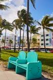Miami Beach Ocean boulevard Art Deco Florida Royalty Free Stock Photography