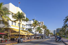 Miami Beach Ocean Drive Royalty Free Stock Photos