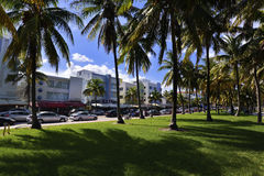 Miami Beach Ocean Drive Royalty Free Stock Images
