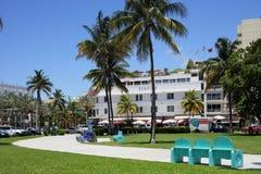 Miami Beach Ocean Drive 50mp photo Royalty Free Stock Photography
