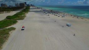 Miami Beach ocean rescue aerial video stock video footage