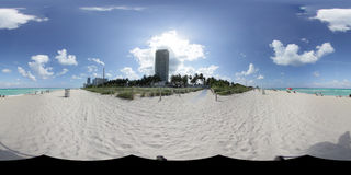 Miami Beach Panorama Stock Photography