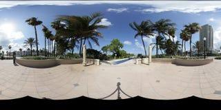 Miami Beach Panorama Stock Photo