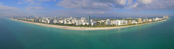 Miami Beach panoramique aérien Images stock