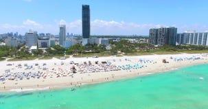 Miami Beach, playa del sur florida EE.UU. almacen de metraje de vídeo