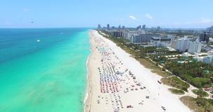 Miami Beach, playa del sur florida EE.UU. almacen de video
