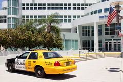 Miami Beach Police campaign against drunk driving. MIAMI BEACH - JUNE 9: 1/2 police and taxi car showing viewers that a cab ride is only $20 while an arrest from Stock Photography