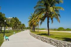 Miami Beach promenade Stock Photography