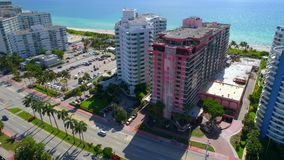 Miami Beach residential condominium stock video footage