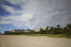 Miami Beach rolling clouds Royalty Free Stock Images