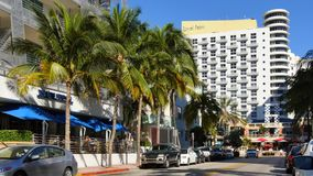 Miami Beach Royal Palm 4k. 4k video of Royal Palm Hotel Miami Beach from Ocean Drive stock video