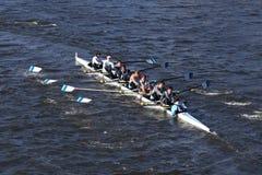 Miami Beach-Ruderclub-Mannschaft läuft im Kopf von Charles Regatta Men-` s Jugend Eights Lizenzfreie Stockbilder