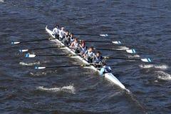 Miami Beach-Ruderclub-Mannschaft läuft im Kopf von Charles Regatta Men-` s Jugend Eights Lizenzfreies Stockbild