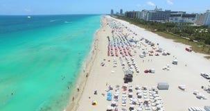 Miami Beach, Südstrand florida USA stock video