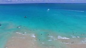 Miami Beach scene aerial video stock footage