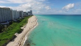 Miami Beach scene aerial video. Aerial video of Miami Beach in the summer 4k stock video footage