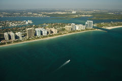 Miami beach and waterfront Royalty Free Stock Photography