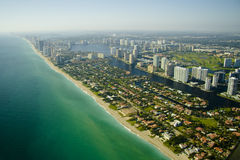 Aerial view of seashore in Miami  Stock Photography