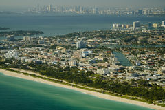 Aerial view of Miami beach Stock Image