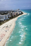 Miami Beach shoreline Royalty Free Stock Images