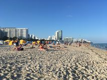 Miami Beach shoreline Royalty Free Stock Photography