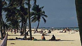 Miami Beach-siebziger Jahre stock video footage