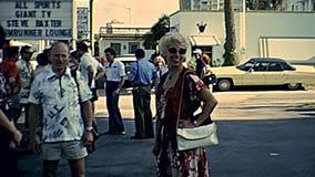 Miami Beach-siebziger Jahre Touristen stock footage