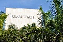 Miami Beach Sign Stock Image