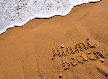 Miami beach sign Stock Photography
