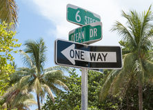 Miami Beach Signs Stock Image