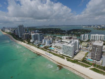 Miami Beach from the sky Royalty Free Stock Photos