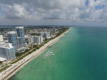 Miami Beach from the sky Stock Images