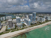 Miami Beach from the sky Royalty Free Stock Image