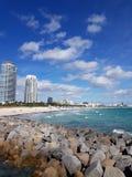 Miami beach sky sun art sunset deco palmtree sea nature royalty free stock image