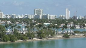 Miami Beach skyline pan view