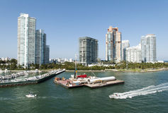 Miami Beach Skyline Royalty Free Stock Photos