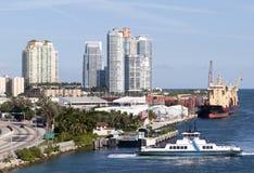 Miami Beach Skyline Royalty Free Stock Photos