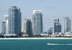 Miami Beach Skyscrapers Stock Images