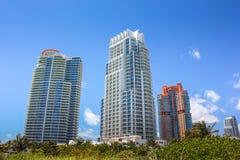 Miami beach skyscrapers Stock Image