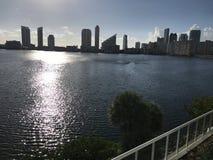 Miami Beach, Sonnenuntergang Neuer Tagesneuer Anfang Floridas stockbilder