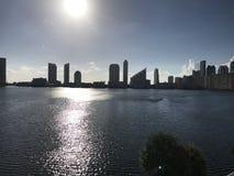 Miami Beach, Sonnenuntergang Neuer Tagesneuer Anfang Floridas stockfotografie