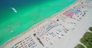 Miami Beach, South Beach. Florida. USA. Aerial view of South Beach, Miami Beach, Florida.USA stock video footage