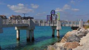 Miami Beach South Pointe Pier stock video