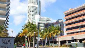 Miami Beach south of 5th street construction stock video footage