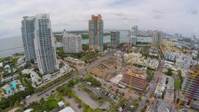 Miami Beach south of 5th street 4k stock video footage