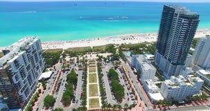 Miami Beach, spiaggia del sud florida U.S.A. video d archivio